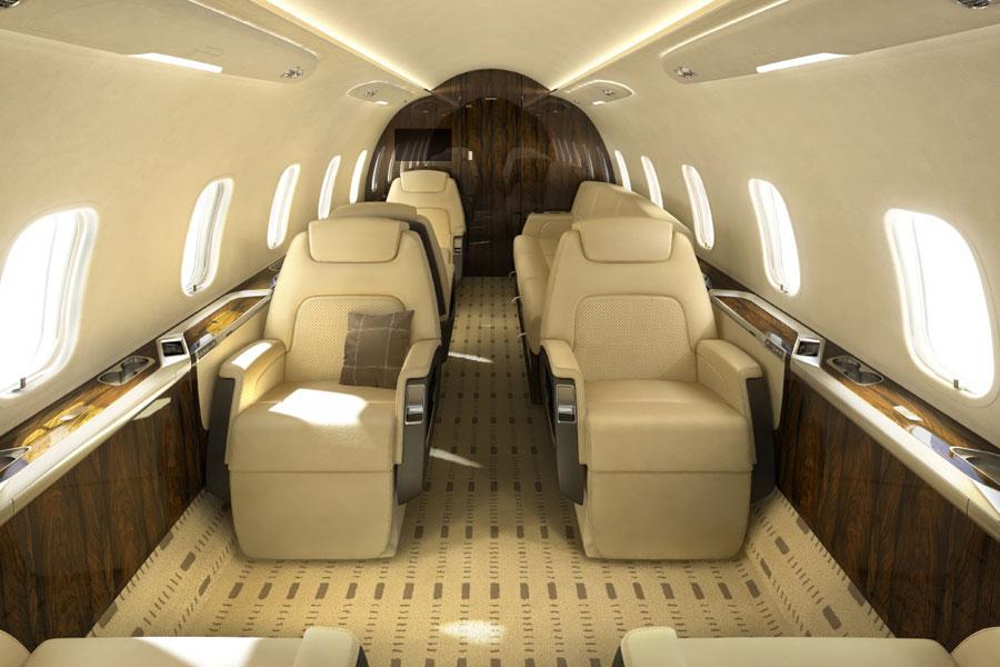 Bombadier Challenger 300, challenger 300 interior
