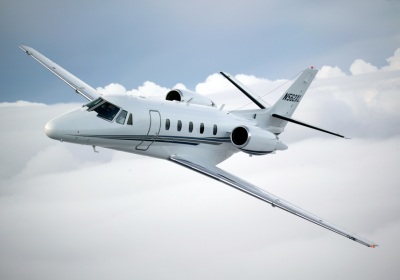 cessna citation excel exterior, citation excel over clouds