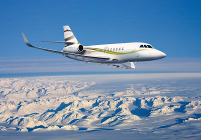 Dassault Falcon 2000 exterior, falcon 2000 in flight