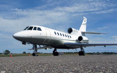 Falcon 50EX, dassault falcon 50, french midsize jet, falcon 50 runway