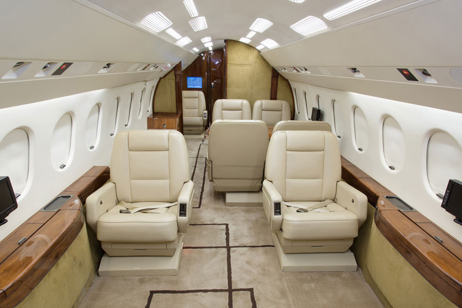 Falcon 900 Interior Private Jet Charter - Jets.com