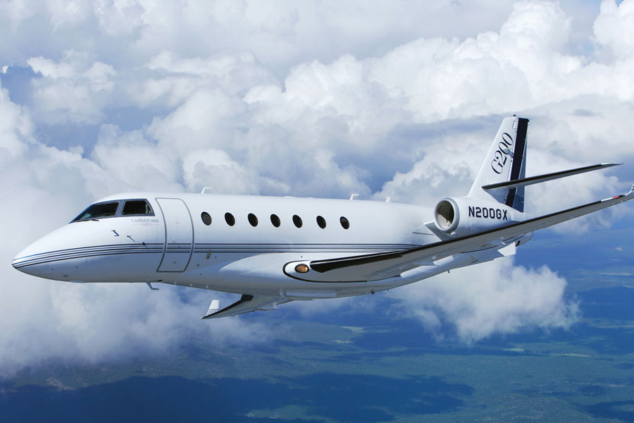 Gulfstream 200, IAI Galaxy exterior, Gulstream 200 in flight