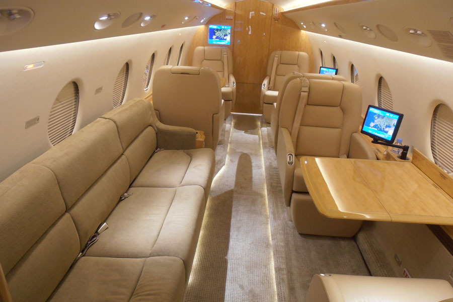 Gulfstream 200, IAI Galaxy interior, Gulstream 200 seating