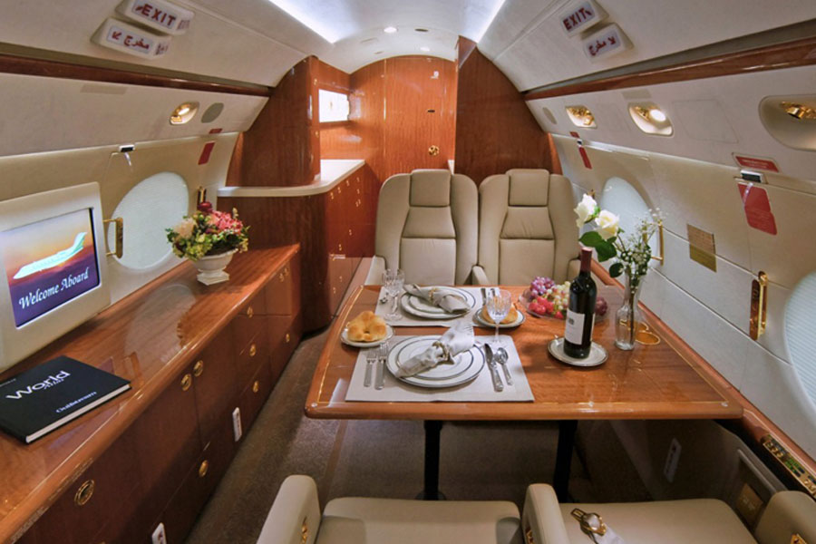 Gulfstream 200 Interior Private Jet Charter - Jets.com