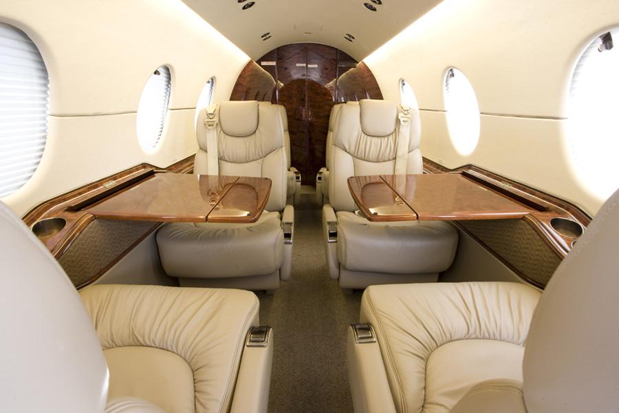 Beech aircraft company, Hawker 400 seats, Hawker 400 interior