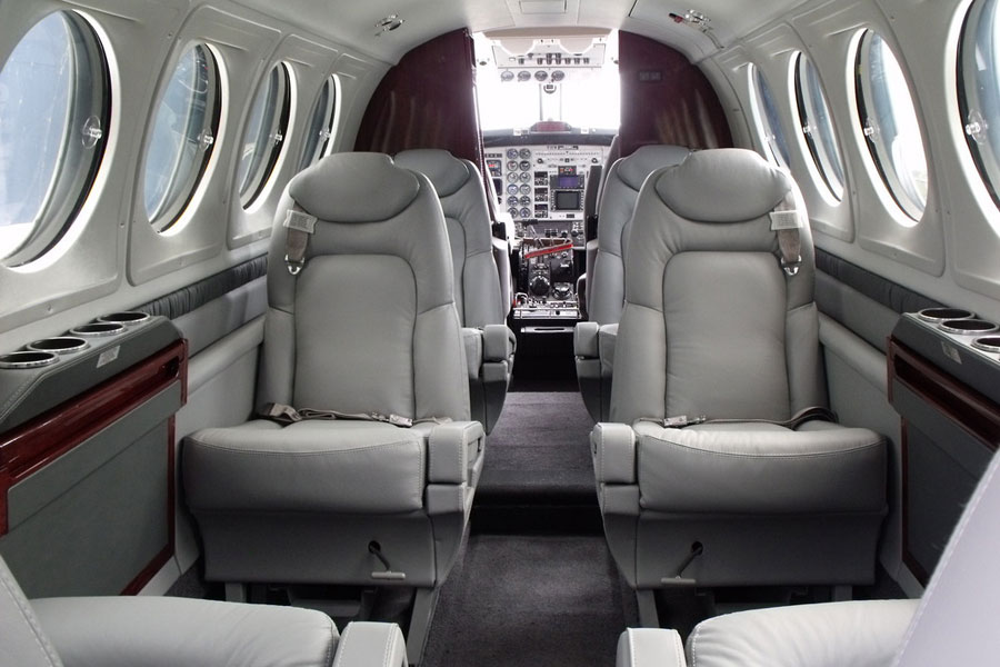 King Air Luxury Interior Private Jet Charter - Jets.com