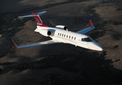 Lear 45, bombadier aviation, learjet exterior, lear jet overhead